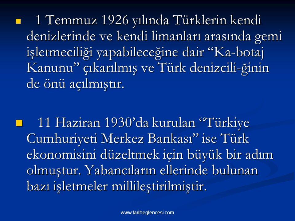 3-TİCARET 3-TİCARET 1923-1930 arasında,ithalat ve ihracat arasın- daki farkın büyük olması sebebiyle,Türk parasının değeri iyice düşmüştü.Türk eko- no