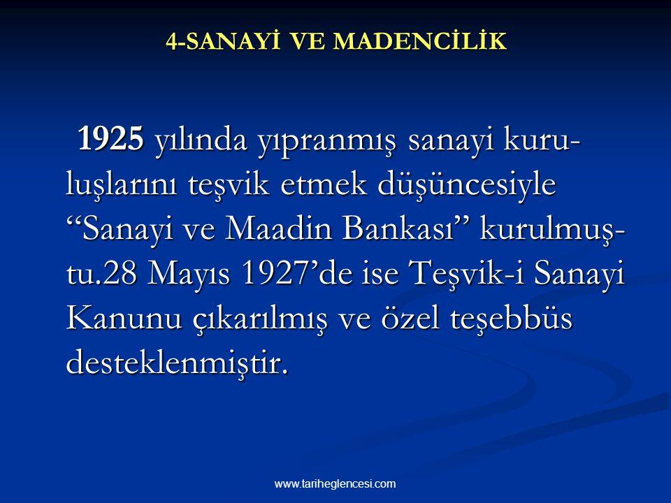 """1 Temmuz 1926 yılında Türklerin kendi denizlerinde ve kendi limanları arasında gemi işletmeciliği yapabileceğine dair """"Ka-botaj Kanunu"""" çıkarılmış ve"""