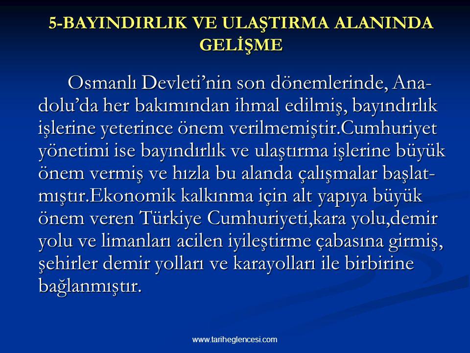12. 1934 yılında uygulamaya konulan Birinci Beş Yıllık Sanayi Planı'nda temel tüketim mallarının üretimine önem verilmesi ve hammaddesi Türkiye'de bul