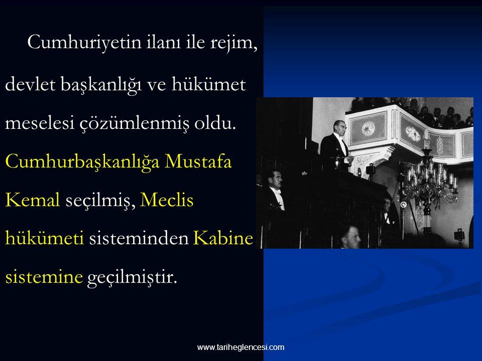 1923 sonbaharında ortaya çıkan hükümet bunalımı Mustafa Kemal' e Cumhuriyeti ilan etme fırsatı vermiştir. Zaten fiilen böyle bir işleyiş vardı. Sadece