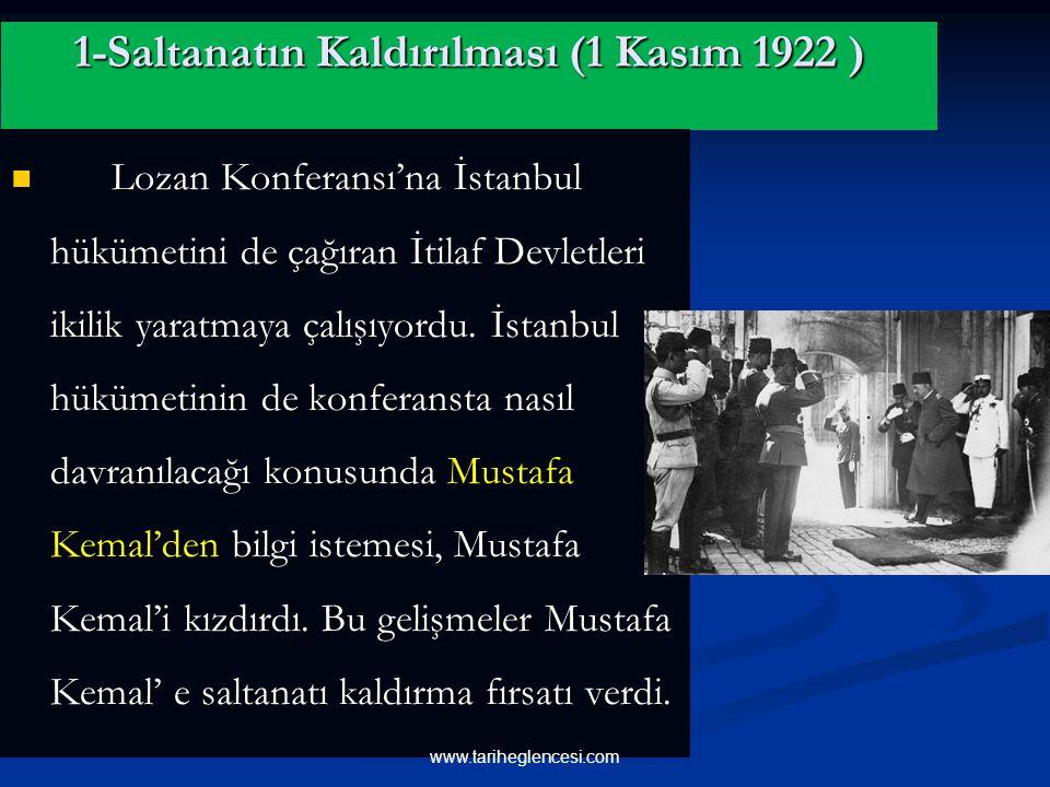 B- SİYASİ ALANDA İNKILAPLAR www.tariheglencesi.com