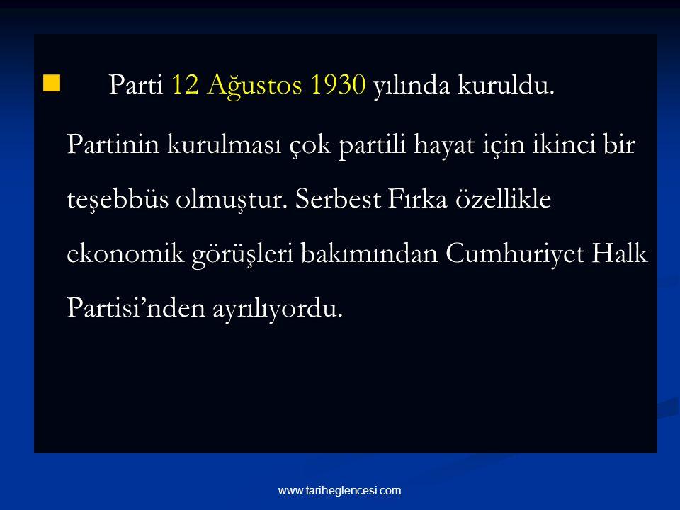 Mustafa Kemal yeni bir parti kurulması görevini o sırada Paris Büyükelçiliği vazifesinde bulunan Fethi Beye verdi. Atatürk yeni kurulan partinin progr