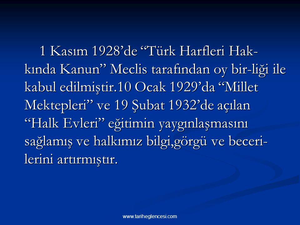 3- TÜRK HARFLERİNİN KABULÜ Arap alfabesinin şekil ve ses uyumu bakı- mından Türkçeye uymamaktaydı. Öğrenmesi de zordu. Mustafa Kemal, Türk dilinin oku