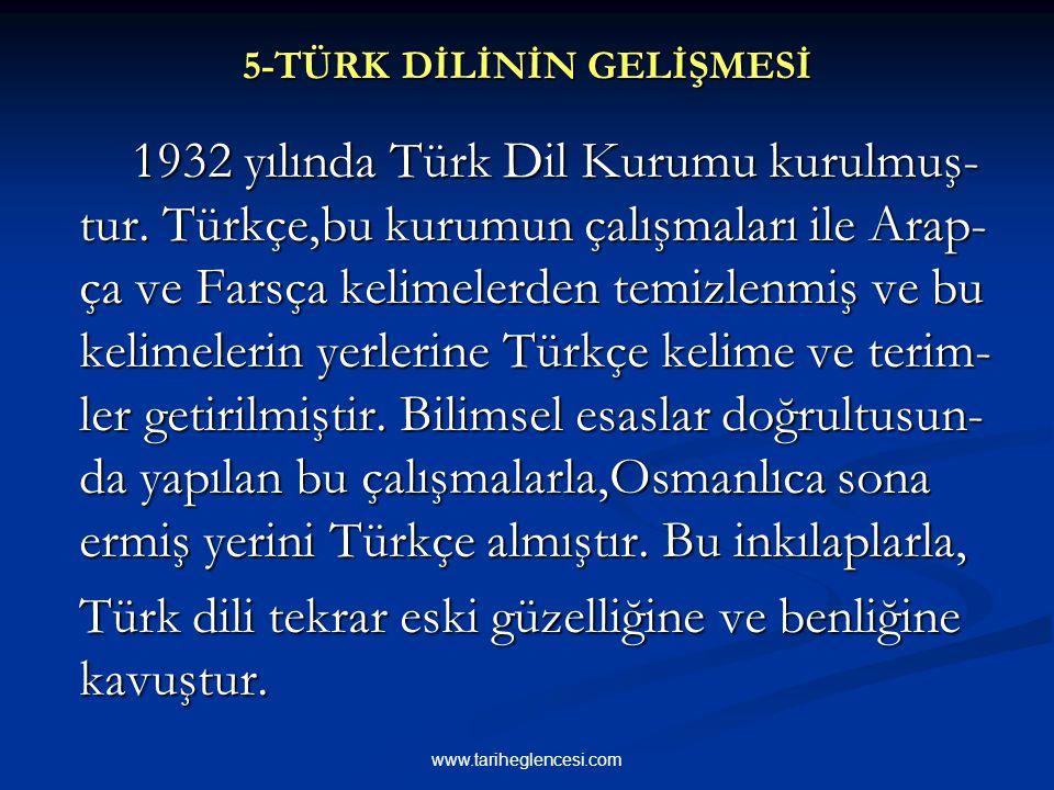 4-YENİ TARİH ANLAYIŞI 1931 yılında milli tarihimizi aydınlat-mak ve açığa kavuşturmak amacıyla Türk Tarih Kurumu kurulmuştur. Yeni tarih anlayışında T