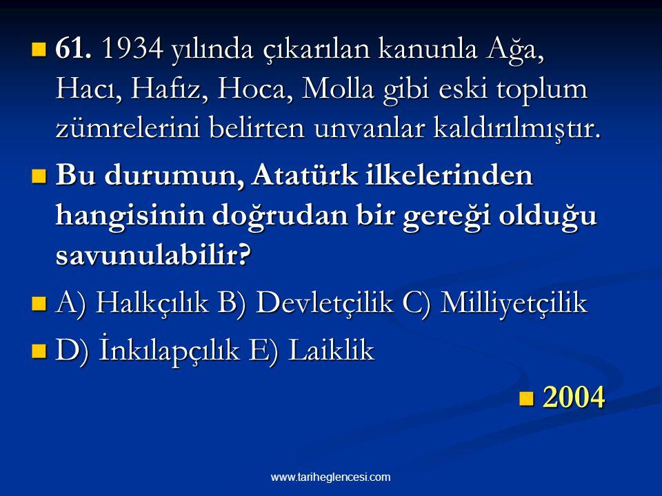 """29 Kasım 1934'te çıkarılan diğer bir kanunla da,toplumda ayrıcalık ifade eden""""Ağa,Hacı, Hoca, Molla, Efendi, Bey, Beyefendi, Paşa,Hanım, Hanımefendi"""""""