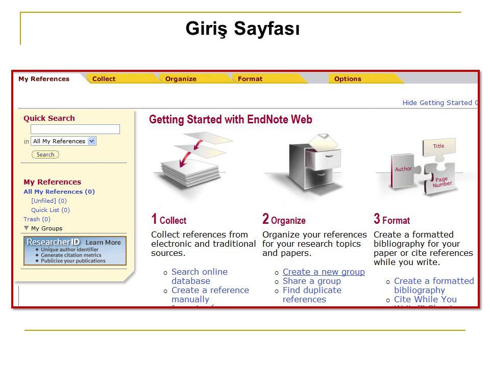 Giriş Sayfası