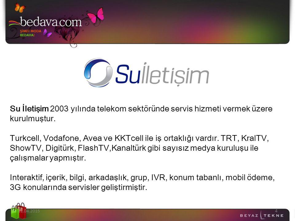 11.04.20154 Su İletişim 2003 yılında telekom sektöründe servis hizmeti vermek üzere kurulmuştur. Turkcell, Vodafone, Avea ve KKTcell ile iş ortaklığı