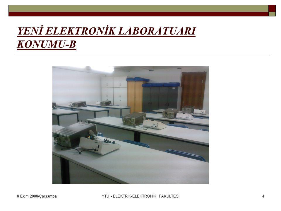 8 Ekim 2008/ÇarşambaYTÜ - ELEKTRİK-ELEKTRONİK FAKÜLTESİ5 ELEKTRONİK LABORATUARI KONU KAPSAMI  Prof.Dr.