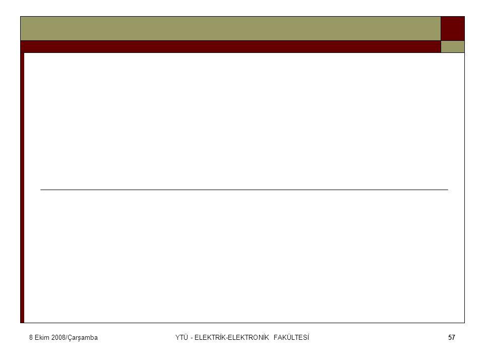 8 Ekim 2008/ÇarşambaYTÜ - ELEKTRİK-ELEKTRONİK FAKÜLTESİ57