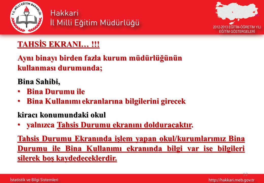 12 TAHSİS EKRANI… !!.