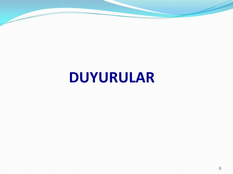 DUYURULAR 6