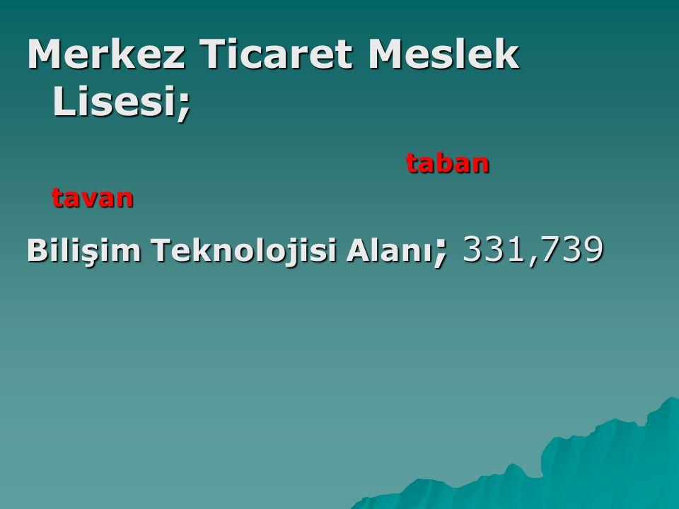 Merkez Ticaret Meslek Lisesi; taban tavan taban tavan Bilişim Teknolojisi Alanı ; 331,739