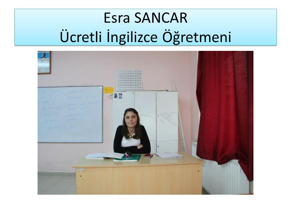 Esra SANCAR Ücretli İngilizce Öğretmeni