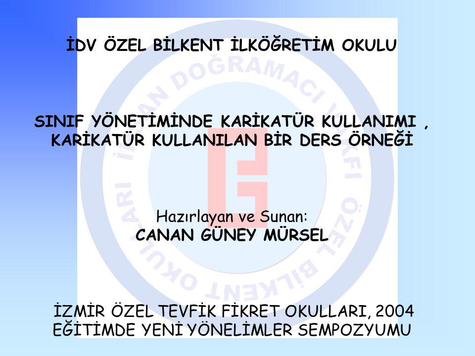 Bu çalışma 2003-2004 Eğitim Öğretim yılında İDV Özel Bilkent İlköğretim Okulunda okuyan 2-D sınıfı öğrencileriyle gerçekleştirilmiş ve 17 Nisan 2004'de İzmir Özel Tevfik Fikret Okullarının düzenlediği Eğitimde Yeni Yönelimler Sempozyumunda sunulmuştur.