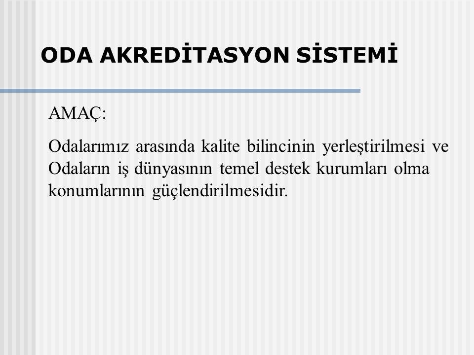 Türk Odaları için, İngiltere'de 1990 yılından beri uygulanmakta olan Oda Akreditasyon Sistemi esas alınarak geliştirilmiştir.
