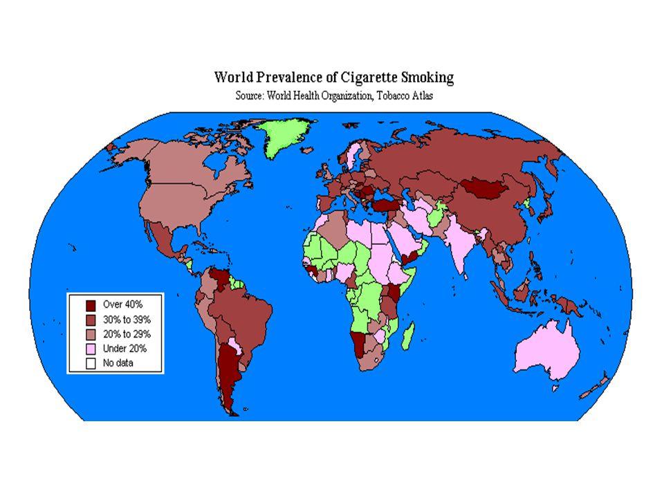 Türkiye'de sigara (tüttürme) prevalansı ■ Erişkin (15+ yaş)** ' *** : 34 - 43% ( ♂ erkek: %57-62, ♀ kadın: %13-25) ■ Çocuklar (7-13 yaş)** ' *** : 13% ■ Lise*** : 20% ■ Gebeler* : 15% ■ Emziren anneler* : 20% Sources: * Turkey Demographics and Health Survey, 2003, ANKARA.