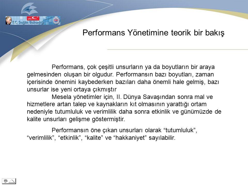 Performans Yönetimine teorik bir bakış Performans, çok çeşitli unsurların ya da boyutların bir araya gelmesinden oluşan bir olgudur.