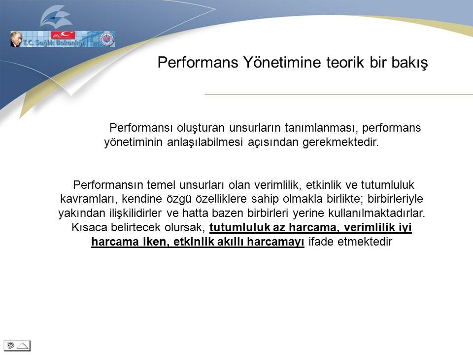 Performans Yönetimine teorik bir bakış Performansı oluşturan unsurların tanımlanması, performans yönetiminin anlaşılabilmesi açısından gerekmektedir.