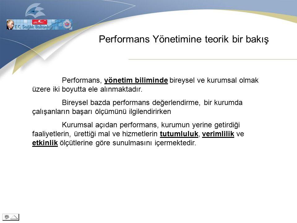 Performans Yönetimine teorik bir bakış Performans, yönetim biliminde bireysel ve kurumsal olmak üzere iki boyutta ele alınmaktadır.