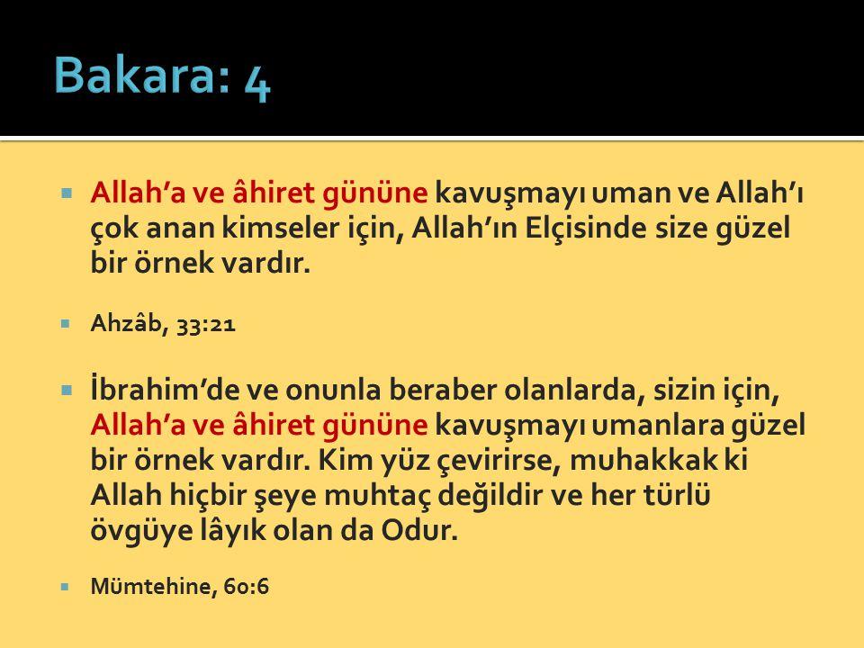  Allah'a ve âhiret gününe kavuşmayı uman ve Allah'ı çok anan kimseler için, Allah'ın Elçisinde size güzel bir örnek vardır.