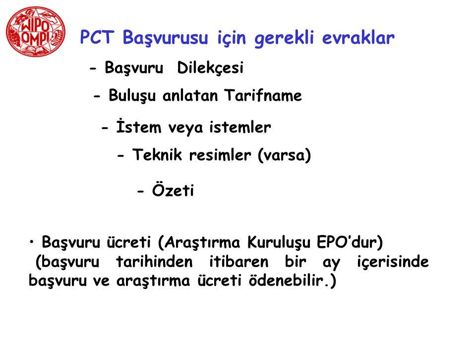 PCT Uluslararası Başvuru Nerelere Yapılabilir.