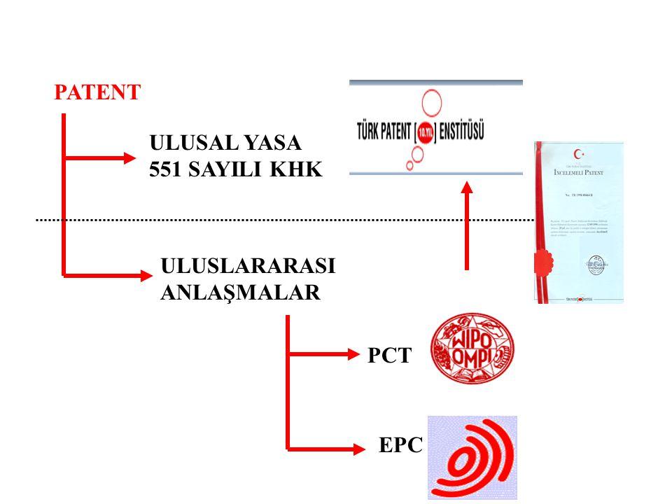 PCT ULULARARASI PATENT BAŞVURULARI