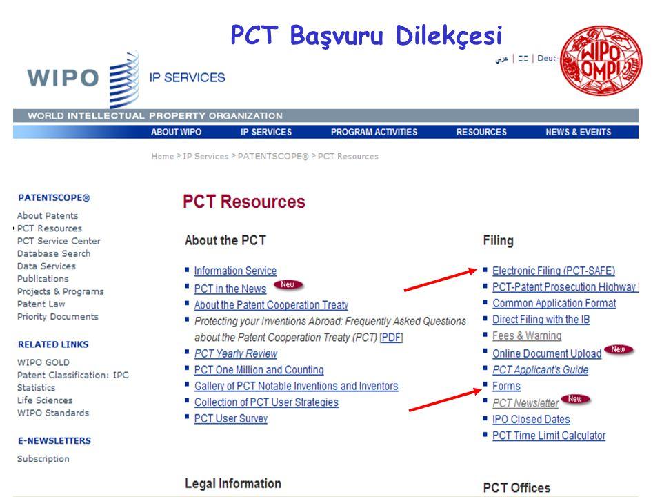 PCT Başvuru Dilekçesi FORM PCT/RO/101