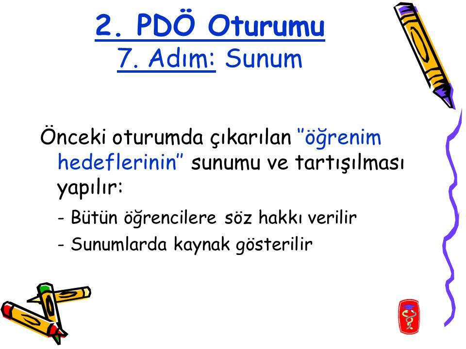 2. PDÖ Oturumu 7.