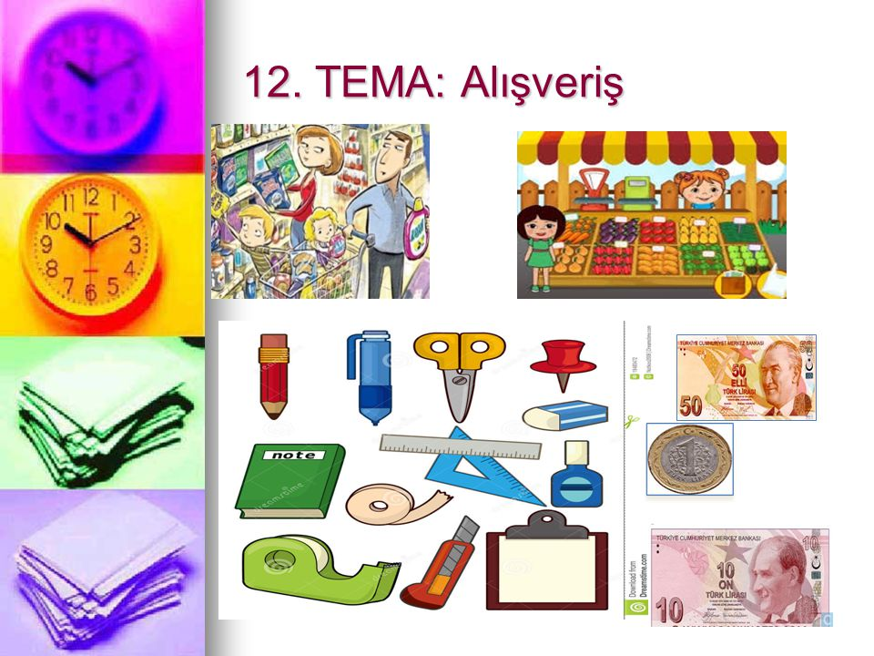 12. TEMA: Alışveriş
