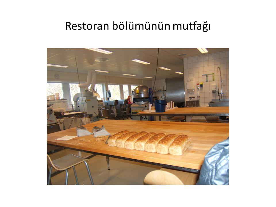 Restoran bölümünün mutfağı