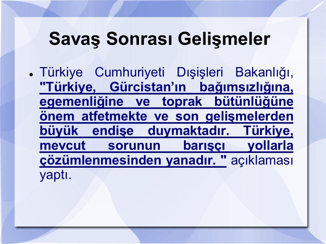 Savaş Sonrası Gelişmeler Türkiye Cumhuriyeti Dışişleri Bakanlığı,