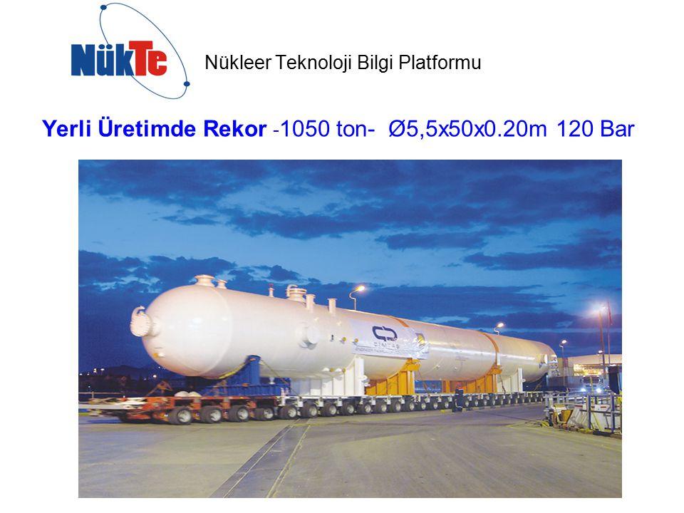 Yerli Üretimde Rekor - 1050 ton- Ø5,5x50x0.20m 120 Bar
