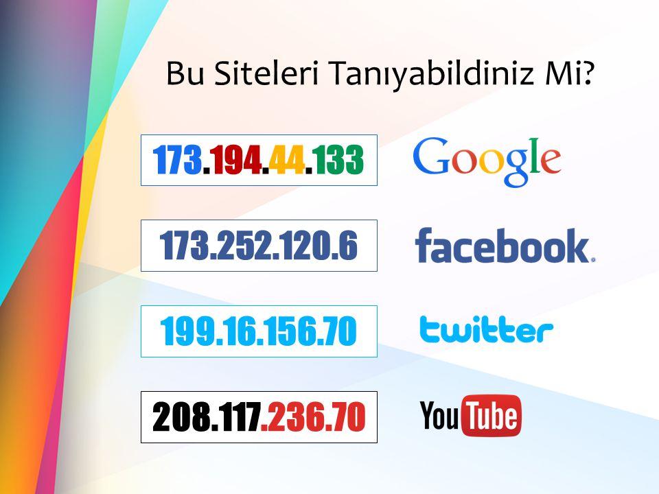 Bu Siteleri Tanıyabildiniz Mi? 173.252.120.6 199.16.156.70 173.194.44.133 208.117.236.70