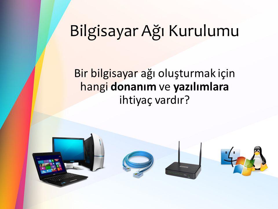 Bilgisayar Ağı Kurulumu Bir bilgisayar ağı oluşturmak için hangi donanım ve yazılımlara ihtiyaç vardır?