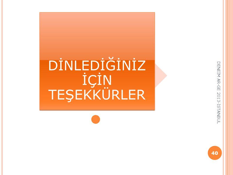 DENEİM AR-GE 2013-İSTANBUL 40 DİNLEDİĞİNİZ İÇİN TEŞEKKÜRLER