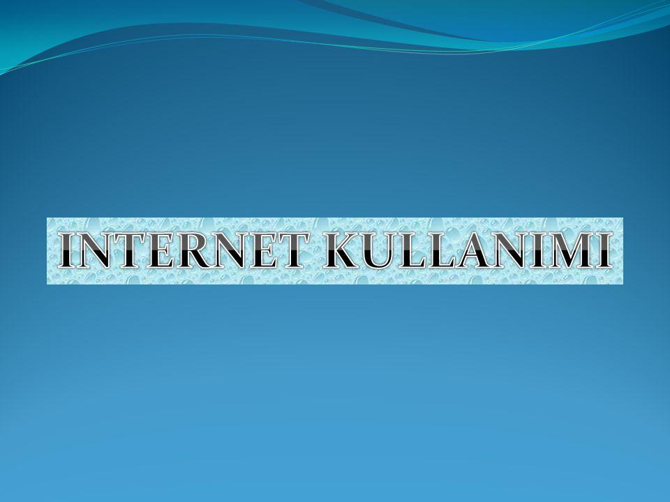 İNTERNET TARAYICISI İnternette hizmet veren sunucu bilgisayarlardan gelen bilgi paketlerinin derlenmesi internet tarayıcıları tarafından yapılmaktadır.
