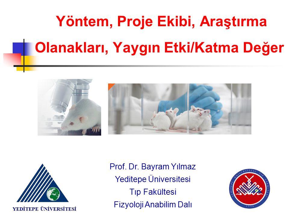 Yöntem, Proje Ekibi, Araştırma Olanakları, Yaygın Etki/Katma Değer Prof.