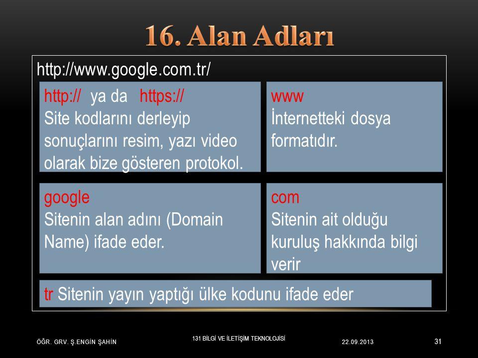 22.09.2013 31 http://www.google.com.tr/ ÖĞR. GRV.