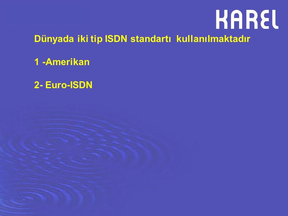 ISDN SO Hat Bağlantıları ISDN uyumlu cihazlar 4 tel ile çalışır.