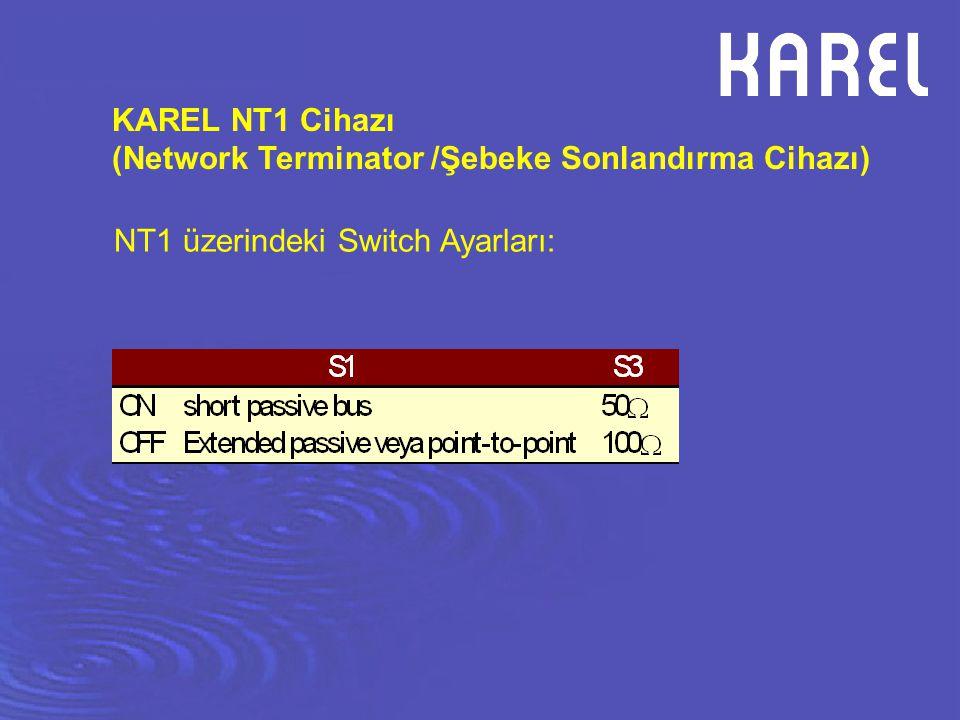 KAREL NT1 Cihazı (Network Terminator /Şebeke Sonlandırma Cihazı) NT1 üzerindeki Switch Ayarları: