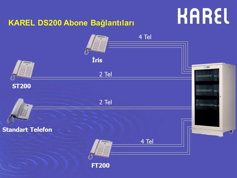 ST200 FT200 İris KAREL DS200 Abone Bağlantıları Standart Telefon 4 Tel 2 Tel 4 Tel