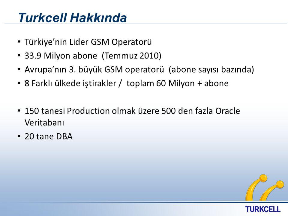 Turkcell Hakkında Türkiye'nin Lider GSM Operatorü 33.9 Milyon abone (Temmuz 2010) Avrupa'nın 3. büyük GSM operatorü (abone sayısı bazında) 8 Farklı ül