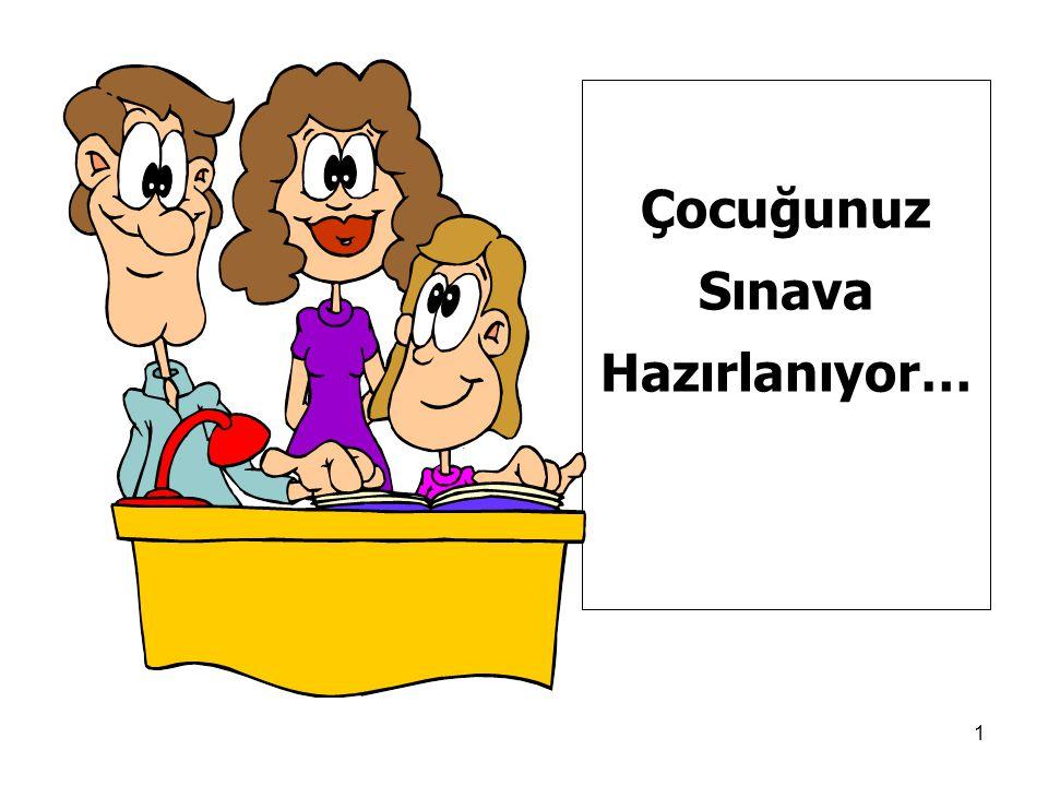1 Çocuğunuz Sınava Hazırlanıyor… ÇOCUĞUNUZ SINAVA HAZIRLANIYOR!..
