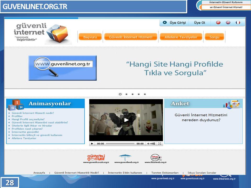 GUVENLINET.ORG.TR İnternetin Güvenli Kullanımı ve Güvenli İnternet Hizmeti2828