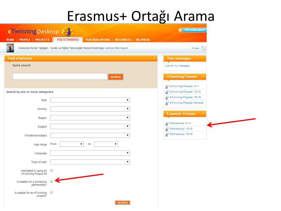 Erasmus+ Ortağı Arama
