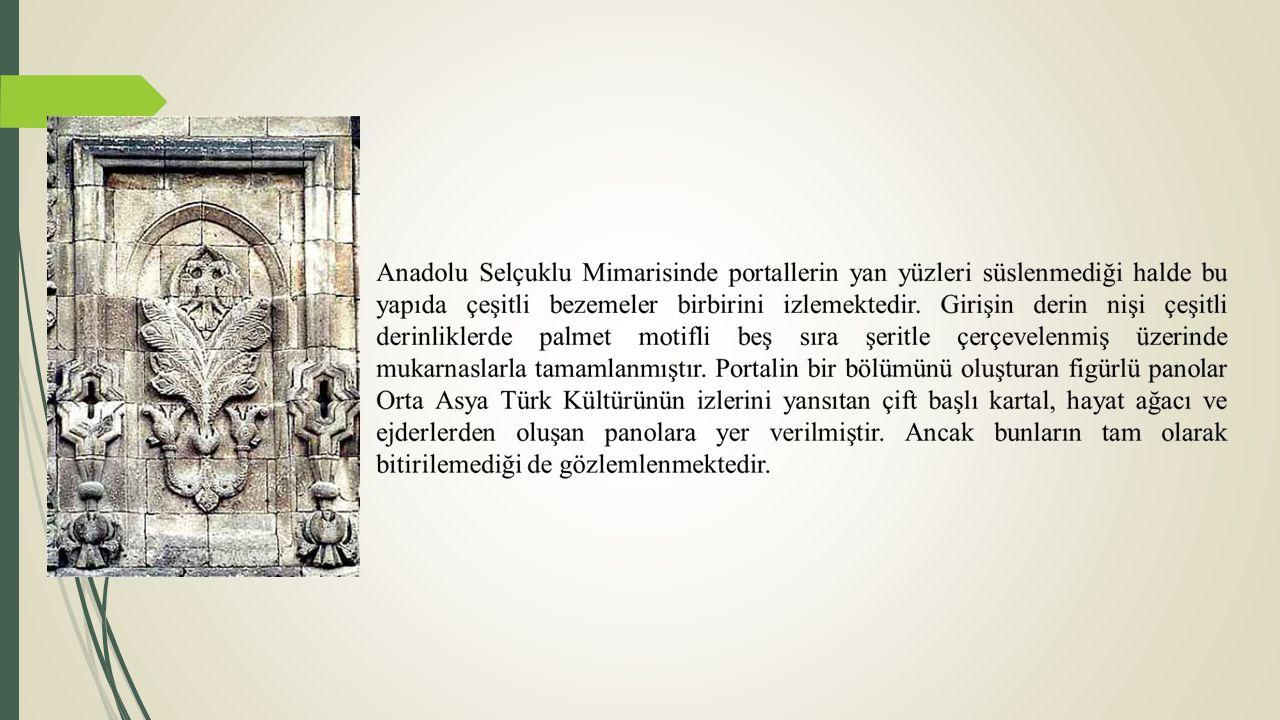 BURUCİYE MEDRESESİ Selçuklu Veziri Hibetullah Burucerdi oğlu Muzaffer 1271 yılında yaptırmıştır.