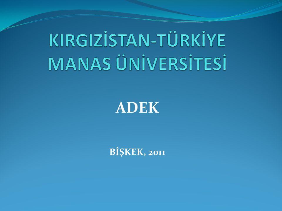 ADEK BİŞKEK, 2011