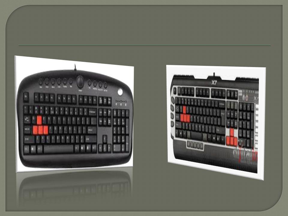  Klavyelerde kullanılan dilin özelli ğ ine göre üzerindeki tu ş ların sayısı ve yerleri de ğ i ş mektedir.  Türkiye'de kullanılan klavyeler genellik