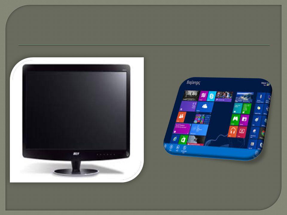  Bir ekranda ne kadar çok piksel varsa ekranın çözünürlü ğ ü o kadar artar.  640 x 480 piksel, 800 x 600 piksel, 1024 x 768 piksel, 1280 x 1024 piks
