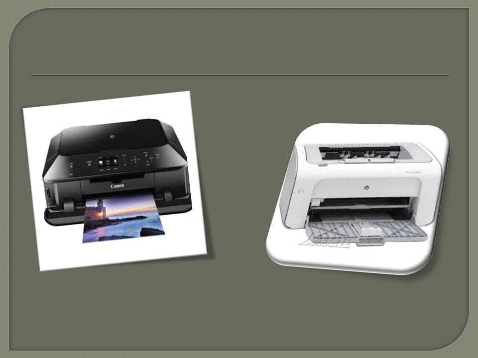  Mürekkep Püskürtmeli Yazıcı ( İ nk jet): Dakikada 1-8 sayfa basabilirler. Kartu ş takılarak kullanılır. Renkli baskı yapabilirler. Baskı kalitesi iy